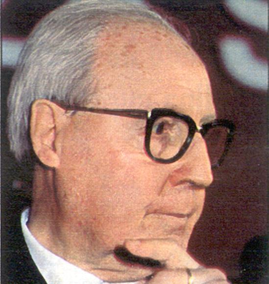 Giuseppe Saragat, primo socialista eletto alla Presidenza della Repubblica.