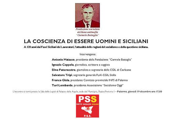 Auguri di Natale con i Fasci Siciliani per il PSS.