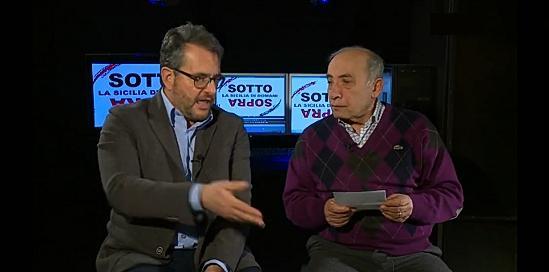 Il nostro compagno Ignazio Coppola insieme al segretario regionale di SEL, On. Massimo Fundarò.